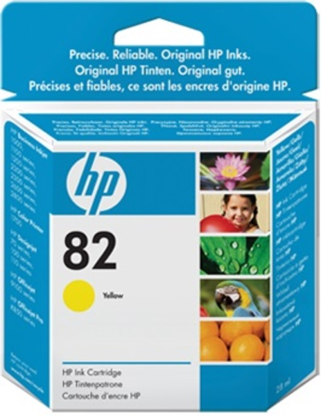 HP No 82 Ink Cart/Yellow 28ml CH568A