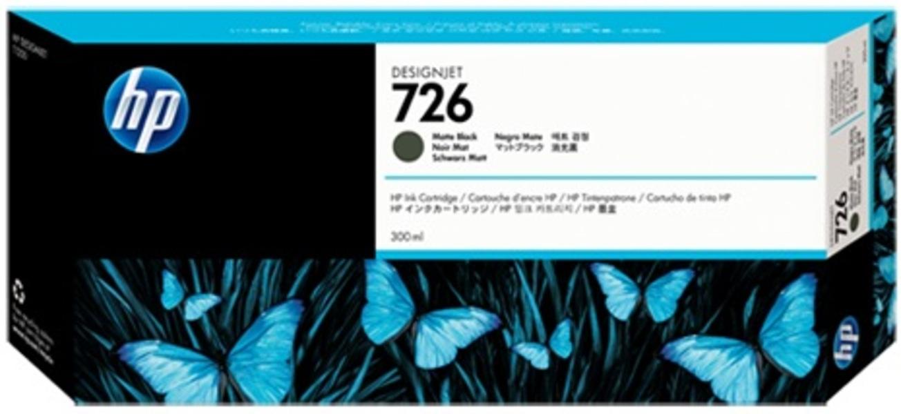 HP 726 300-ml Matte Black Ink Cartridge CH575A