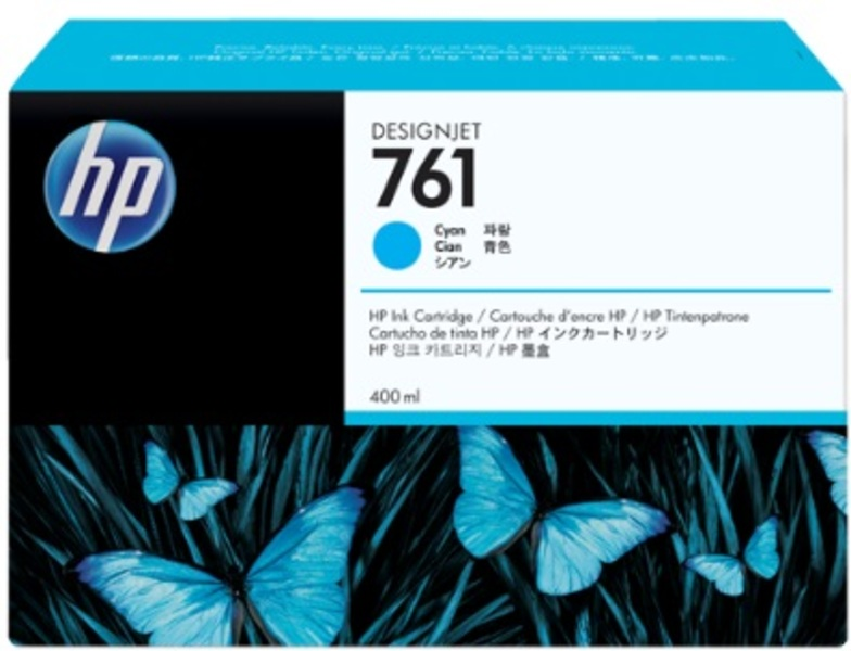 HP No 761 Ink Cart/Cyan 400ml CM994A