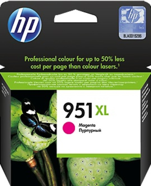 HP 951XL Magenta Officejet Ink Cartridge CN047AE