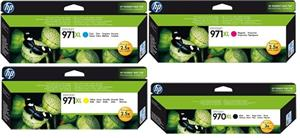 HP HP Tinten-Set 1x 970XL und 3x 971XL, bestehend aus je 1x CN625AE, CN626AE, CN627AE, CN628AE CN625AESet