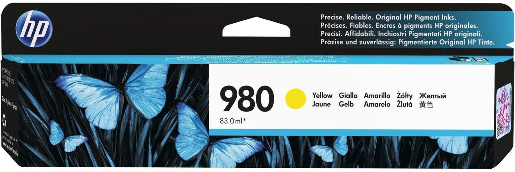 HP Ink/980 Yellow Original Cartridge D8J09A