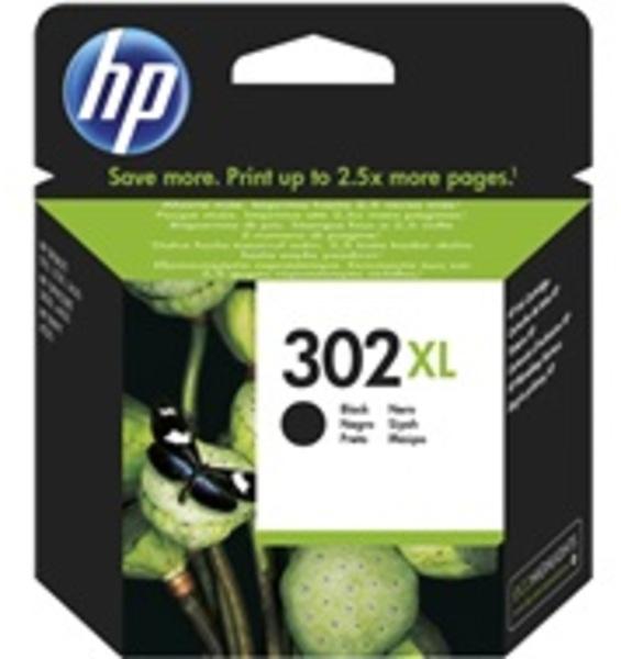 HP 302XL Tinte schwarz F6U68AE