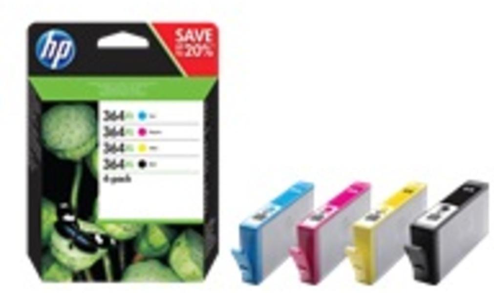 HP 364XL Tinten Combo 4-Pack CMYK N9J74AE
