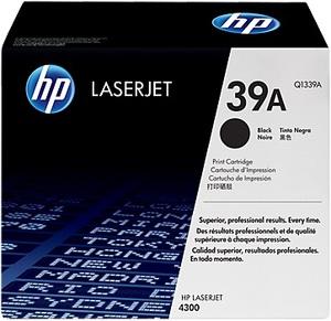 HP Toner, 39A, black Q1339A