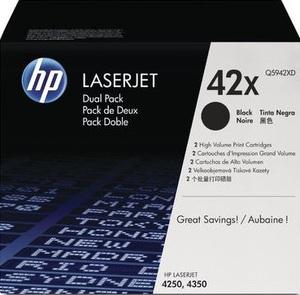HP Toner, 42X, black, 2 pieces Q5942XD