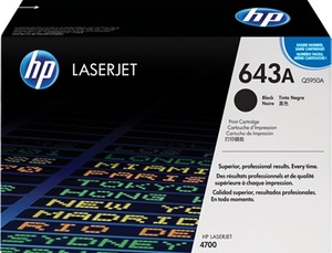 HP Toner, 643A, black Q5950A