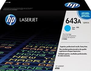 HP Toner, 643A, cyan Q5951A