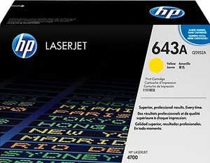 HP Toner 643A - Yellow (Q5952A) Q5952A