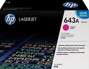 HP Toner, 643A, magenta Q5953A