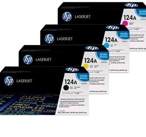 HP Toner-Set bestehend aus je 1x Q6000A, Q6001A, Q6002A, Q6003A = 4x 124A (CMYBK)