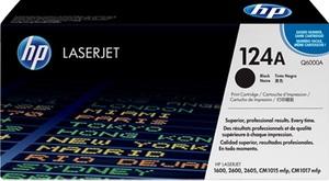 HP Toner, 124A, black Q6000A