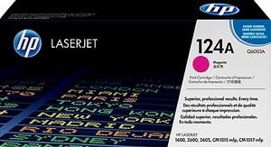 HP Toner, 124A, magenta Q6003A