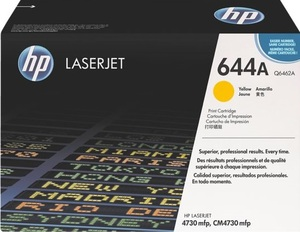 HP Toner, 644A, yellow Q6462A