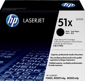 HP Toner, 51X, black Q7551X