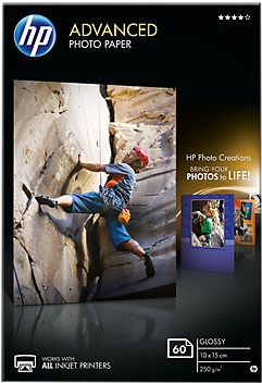 HP Paper Photo/Adv Glossy 10x15 bdl 60sh Q8008A