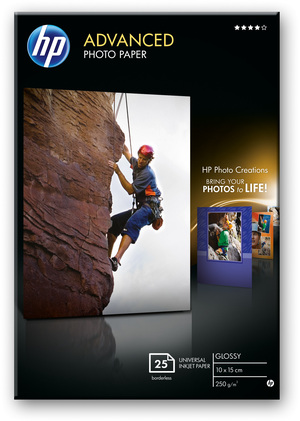 HP Paper Photo/Adv Glossy 10x15 bdl 25sh Q8691A
