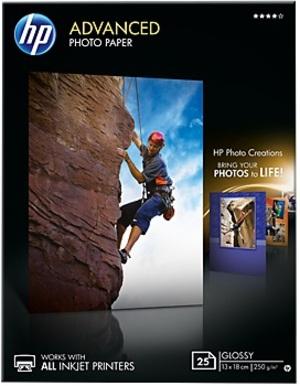 HP Photo Paper/Adv Glossy 13x18 bdl 25sh Q8696A