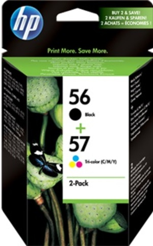HP 56/57 Ink Cart 2-Pack promo blk/color SA342AE