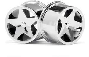 HPI Racing Q32 Super Star Wheel Set, chrom HPI114279