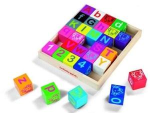 Janod MVQR 30 Cubes alphabet SALE 39409A1