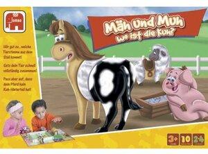 Jumbo Spiel Mäh und Muh wo ist die Kuh? Ab 3 Jahren,2-4 Spieler Aktion-und Reaktionsspiel 3543