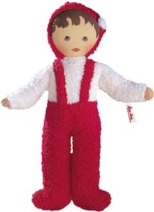 Käthe Kruse Klassik Frottee Baby rot/weiß 70201