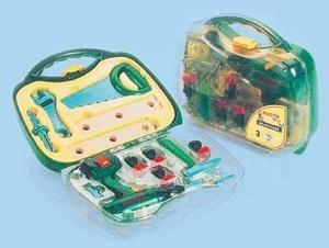 klein Werkzeugkoffer Bosch 17 Teile, mit Bohrmaschine, Batterien 2xAA exkl. ab 3+ 29250432