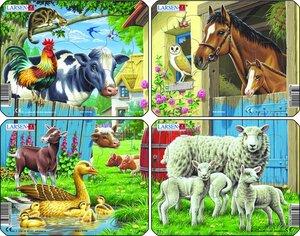Larsen Puzzles Bauernhoftiere (MQ4) 4x7T. 241002