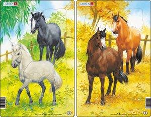 Larsen Puzzles Pferde (MQ2) 10+10-tlg. 241007