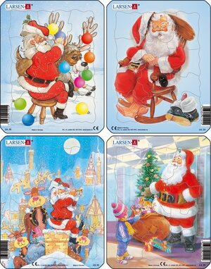 """Larsen Puzzles Christmas (MQ4) """"eines wird geliefert"""" 4x12tlg. 2441101"""