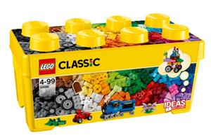 LEGO Bausteine-Box mittelgross Lego Classic, 484 tlg mit Ideenheft 10696A1