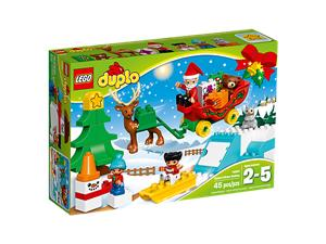 LEGO Winterspass mit dem Weihnachtsmann, Lego Duplo, 2-5 Jahre 10837