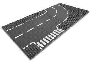 LEGO Kurve und T-Kreuzung 5-12 Jahre, 2 Teile, Lego City 7281