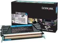 Lexmark Toner-Modul HY return cyan X748H1CG