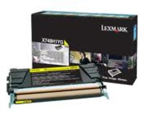 Lexmark Toner-Modul HY return yellow X748H1YG