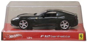 Hot Wheels Hot Wheels Ferrari F12 Berlinetta schwarz, 1:24, Metall 32014003