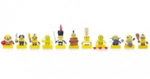 MEGA BLOKS Minions Figuren Micro, 12-fach (eines wird geliefert assortiert, ab 5 Jahren 40401082