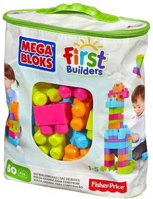 MEGA BLOKS First Builders Bausteinebeutel - Medium 60 Teile - neue Farben CYP66