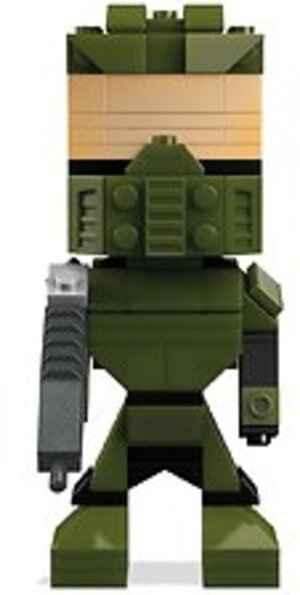 MEGA BLOKS Mega Collectors Kubros Halo Master Chief DPH88