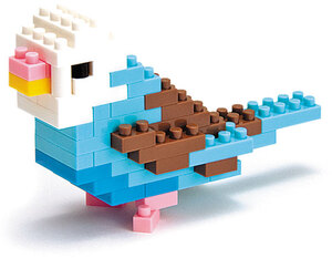 Nanoblock Budgerigar Blue Opaline (Level 1) 58513929