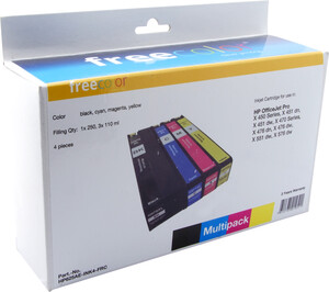 Neutral FREECOLOR - HP OfficeJet Pro X450 Series MultiPack bkcmy HP625AEINK4FRC