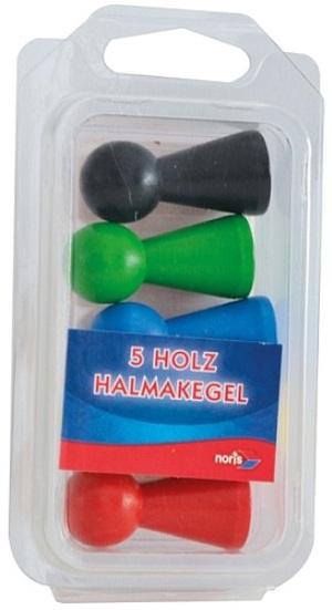 noris 5 grosse Halmakegel Holz bunt 606151043