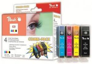 PEACH Tinte Canon BCI-3e Combi Pack BKCMY 312211