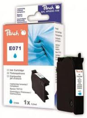 PEACH Tinte Epson T0712 cyan 312907