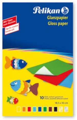 Pelikan Glanzpapier gummiert 137935