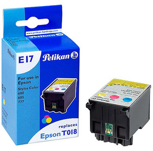 Pelikan Pelikan T018 401 für Epson Stylus Color 680, 685, 777, 777i - mit Chip 337542