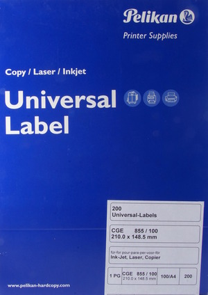 Pelikan für Universal-Label CGE 855/100 406798
