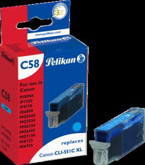 Pelikan Tinte cyan (Canon CLI-551 XL ) 4110015