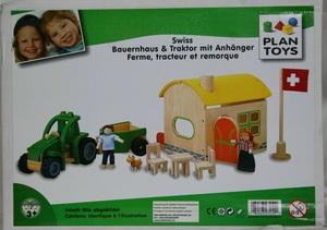 PlanToys Plan Toys BAUERNHAUS+TRAKTOR CH-SET 281027210